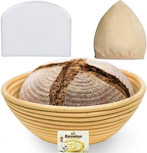 Bread Bosses 9 Inch Bread Banneton Proofing Basket