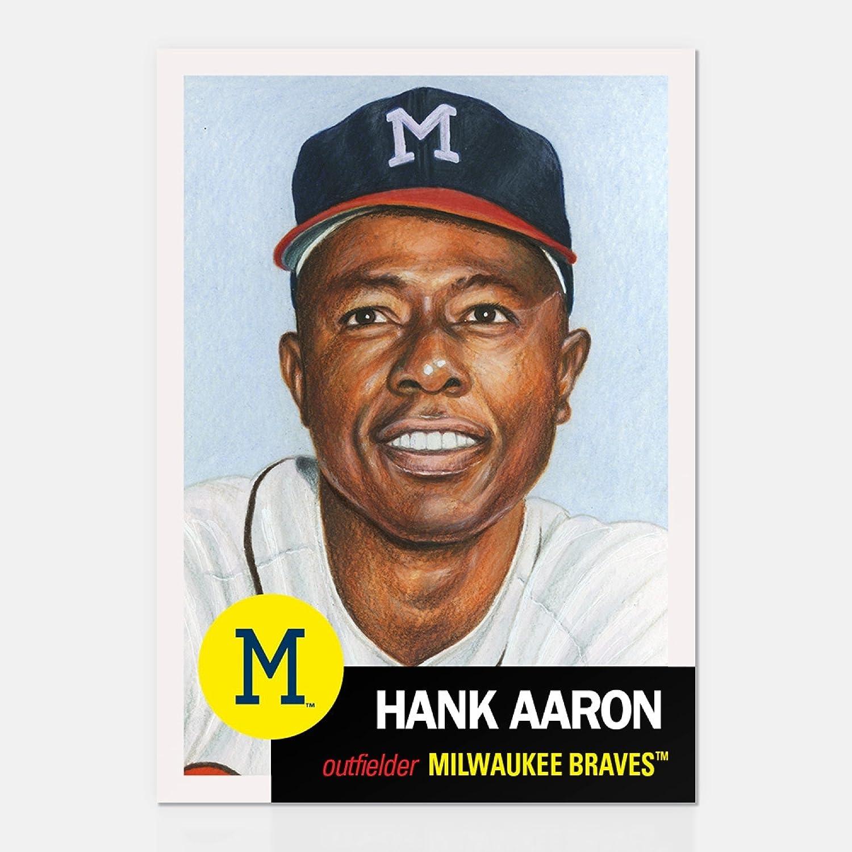 HANK AARON TOPPS LIVING SET 2018 CARD #46 MILWAUKEE BRAVES w//FACSIMILE SIGNATURE TOPLOADER