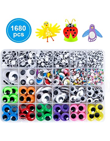 200pcs 25mm//1 inch Wiggle Googly Eyes with Self-Adhesive Round Black /& White Eyes for DIY Arts Craft Supplies Party Decorations