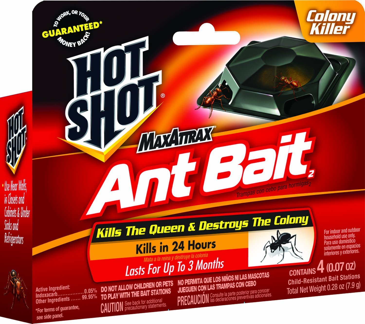 Amazon.com : Hot Shot 2040W MaxAttrax Ant Bait, 4 Count, Case Pack of 3 : Garden & Outdoor