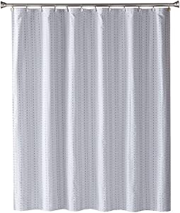 SKL Home by Saturday Knight Ltd. Hopscotch Fabric Shower Curtain, Gray