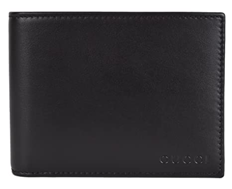 858be9efac63 Amazon.com: Gucci Men's Black Leather Embossed Logo Bifold Wallet W ...