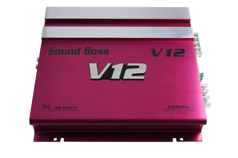Sound Boss 3800w Mosfet High Power Two Class Ab Car 100w Amplifier Electronics