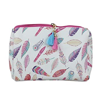 08d183919fb7 Printed Multiuse Bag Tassels with Free Keychain (Pink Feather Print)