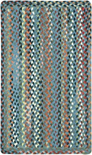 """product image for Capel St. Johnsbury Medium Blue 9' 2"""" x 13' 2"""" Vertical Stripe Rectangle Braided Rug"""
