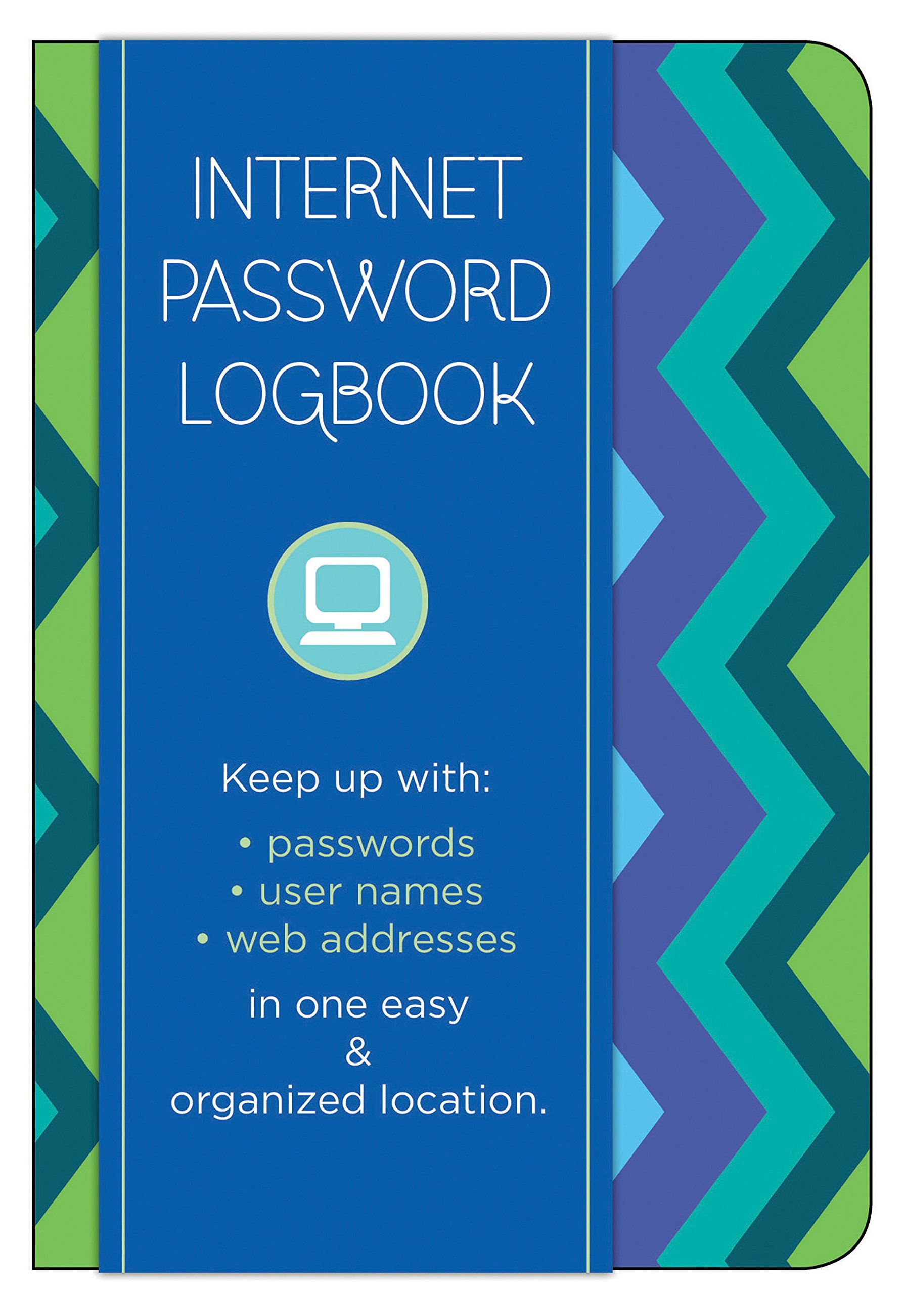 Internet Password Logbook - Pattern Edition: Keep track of: usernames, passwords, web addresses in one easy & organized location PDF