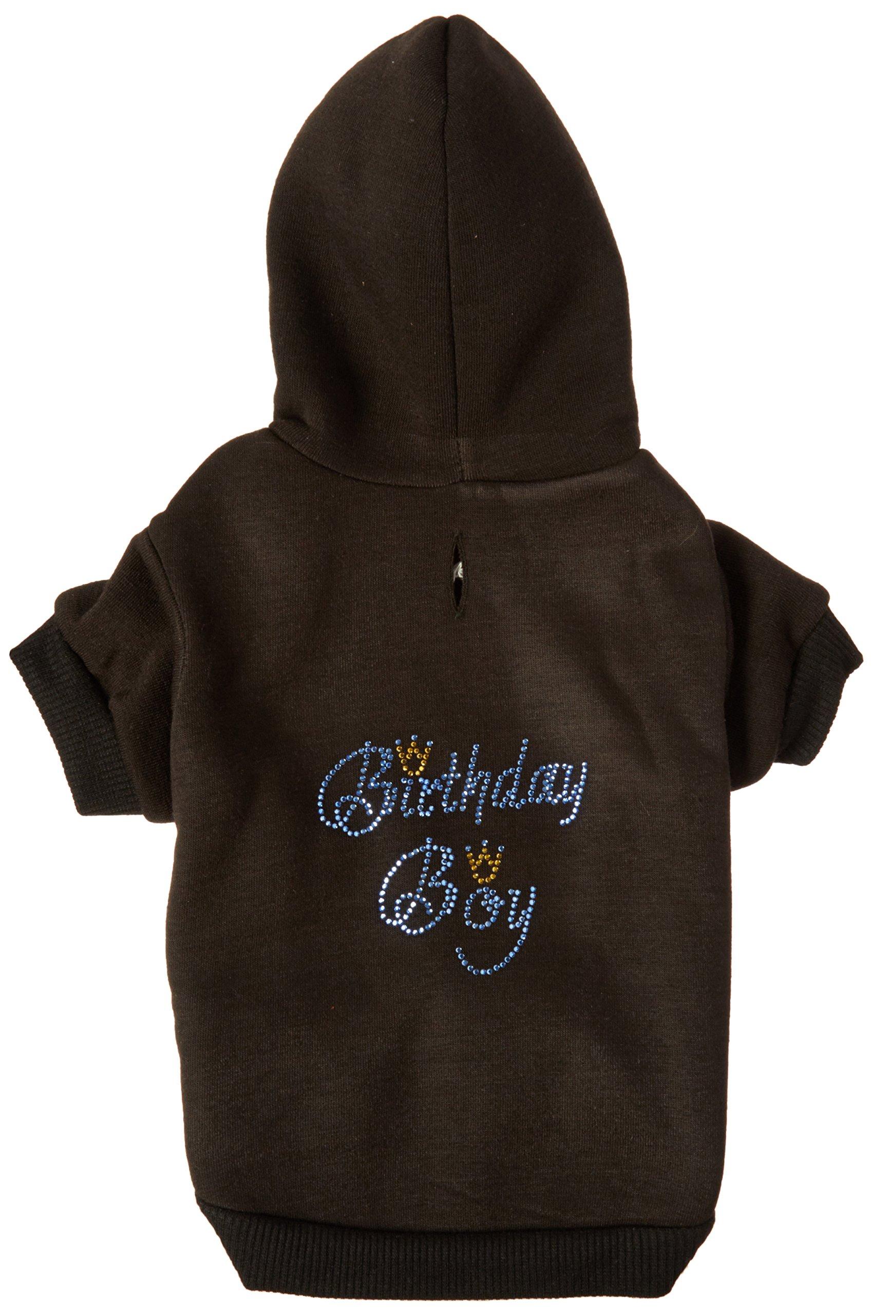 Mirage Pet Products 12-Inch Birthday Boy Hoodies, Medium, Black