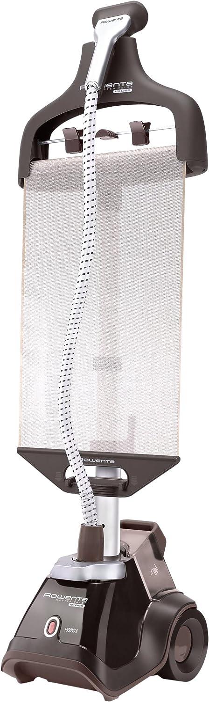 Rowenta Master Valet Steamer IS6300D1 - Cepillo de vapor vertical, con soporte plano para extender ropa y percha integrada de 1500 W, accesorios para prendas delicadas y gruesas, autonomía 60 min