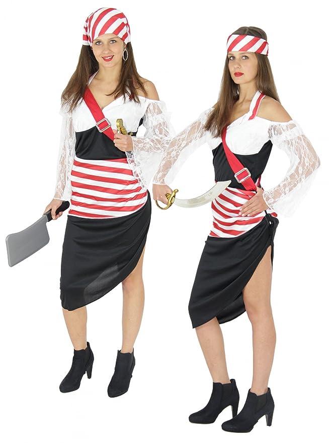 FOXXEO Sexy Disfraz de Pirata para el Carnaval de Mujeres Falda de ...