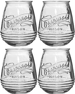 Home Essentials 3943 Original Mason Stemless Wine Glass, Set of 4
