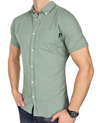 JACK   JONES Herren Hemd jorDIRK Freizeithemd punktiert Button Down Slim Fit  (M, Grün 955d23f2fb