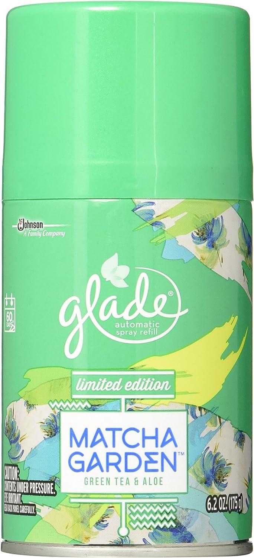 Glade Automatic Spray air freshener, Refill, Matcha Garden, 6.2 oz