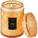 Voluspa Spiced Pumpkin Latte Candle | Small Glass Jar with Matching Glass Lid | 5.5 Oz | All Natural Wicks and Coconut Wax fo