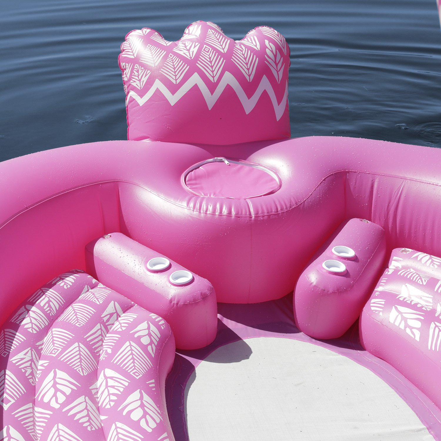 Sun Pleasure Party Bird Island Giant Flamingo Float - Fast Speed Pump Included - Flamingo with Pump and Carrying Bag - use in Lake, Ocean, River, Pool Floats for up to 6 People by Sun Pleasure (Image #4)