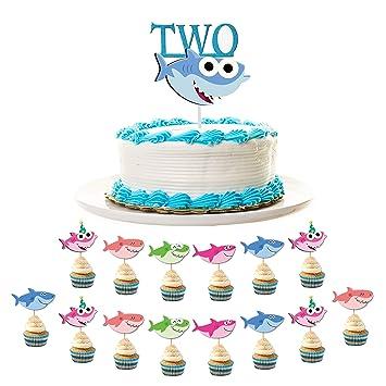 Fine Baby Shark 2Nd Birthday Decoration Pack Includes 1 Shark Two Funny Birthday Cards Online Inifodamsfinfo