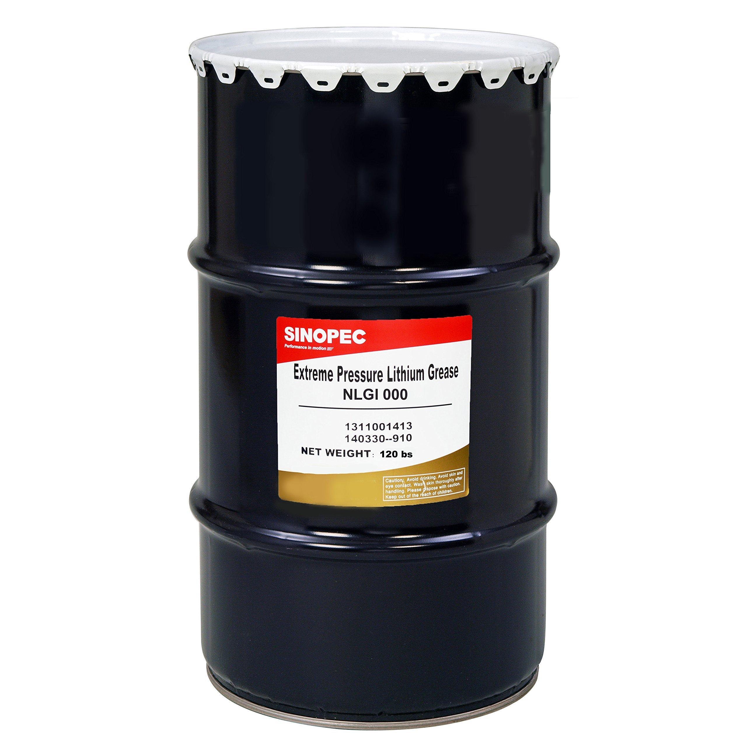 Sinopec EP000 Semi-Fluid Lithium Grease, Nlgi 000, 120 lb.
