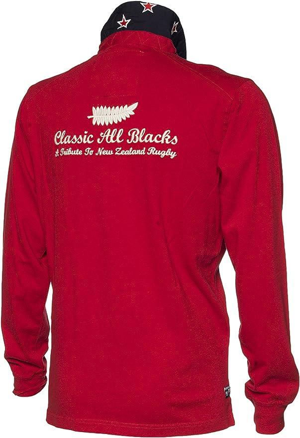 Classic All Blacks - Polo - Manga Larga - para hombre rojo Large ...
