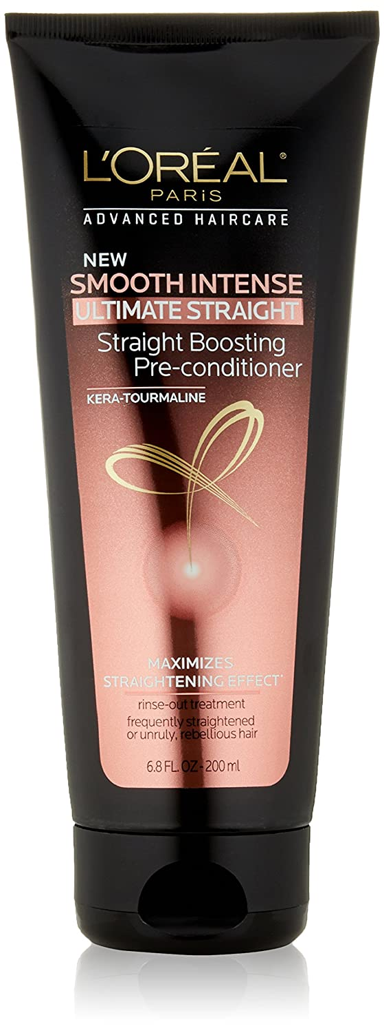 L'Oreal Paris Hair Care Advanced Smooth Intense Ultimate Straight Boosting Pre-Conditioner, 6.8 floz
