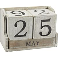 Bloque de Calendario Perpetuo de Madera–Calendario de escritorio