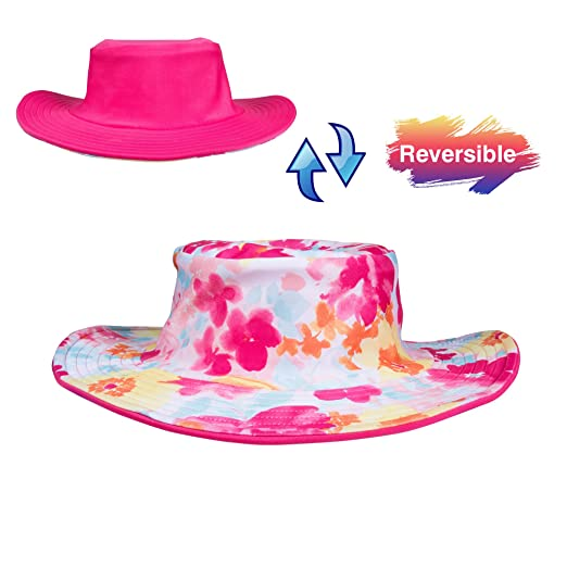 a3fe01658b578 PRISTON TALE Baby Toddler Kids Boys Girls Breathable Reversible Sun  Protection Bucket Hat UPF 50+
