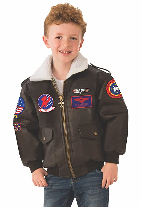 Amazon Com Rubie S Top Gun Child S Costume Bomber Jacket Small