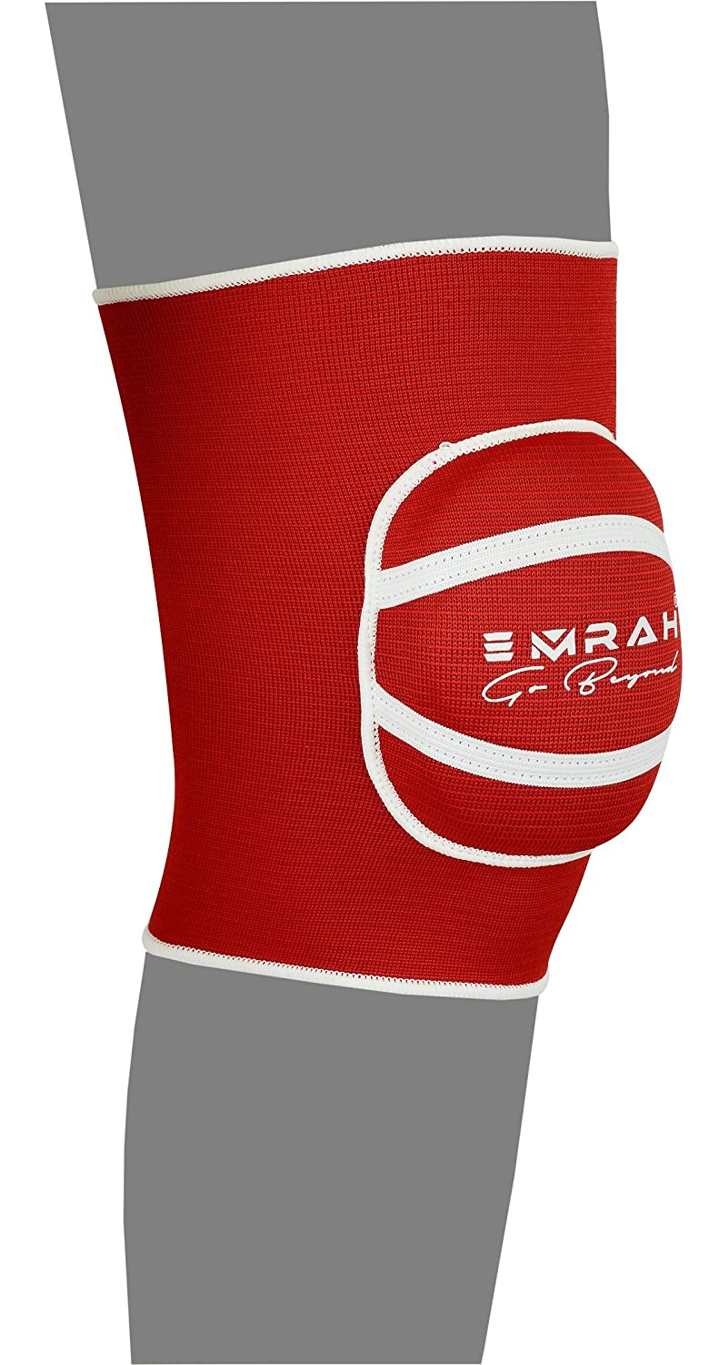 EMRAH Knee Pads with Heavy Duty Foam Padding and Comfortable Gel Cushion Cap Protector X Large, Blue