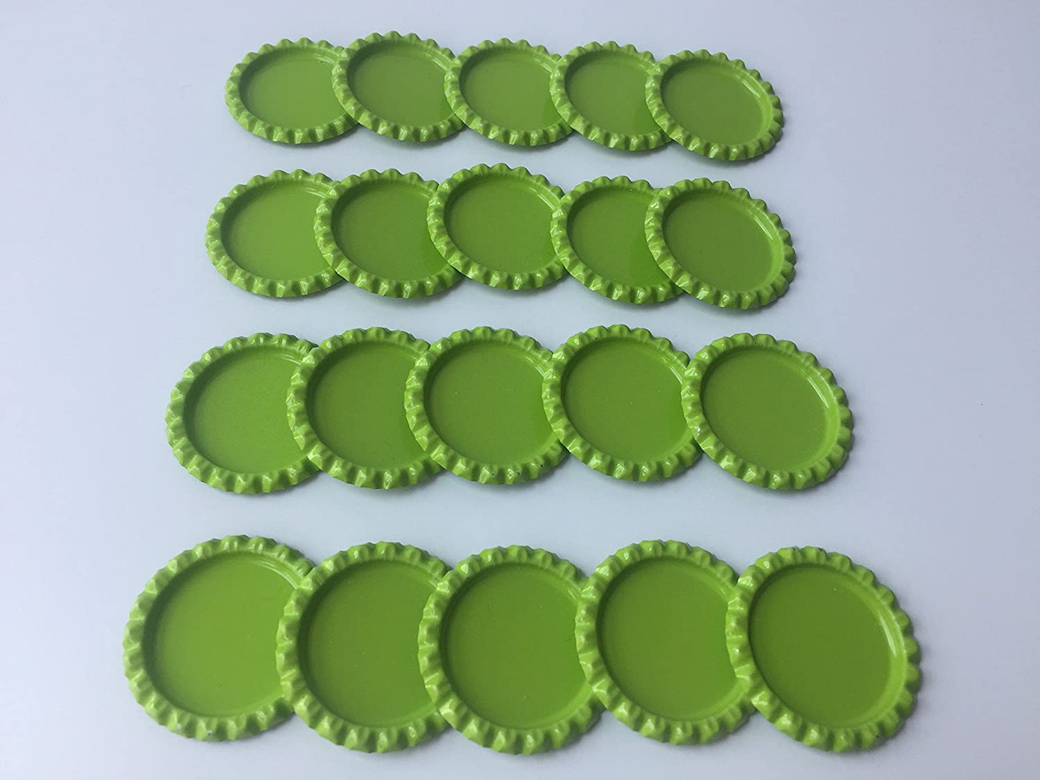 DIY Pendants or Craft ScraPbooks Mixed Colors HAWORTHS 100 PCS Flat Decorative Bottle CaP Craft Bottle Stickers Double Sideds Printed for Hair Bows 10colors