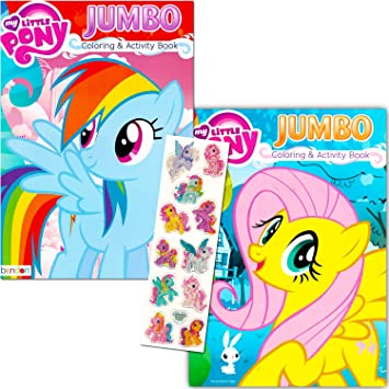 My Little Pony Coloring Book Super Set With Stickers 2 Jumbo Books And Sticker Pack