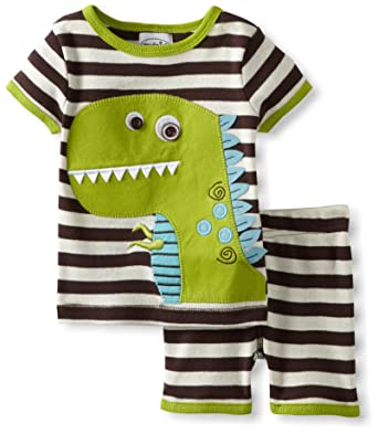 9136b65288ed Amazon.com  Mud Pie Baby Boys  Dinosaur Short Pajama Set  Infant And Toddler  Pajama Sets  Clothing