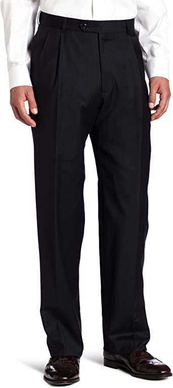 Austin Reed Men S Suit Separate Clasic Fit Pant Navy Stripe 35 Regular At Amazon Men S Clothing Store Business Suit Pants Separates