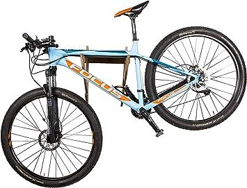 AKR - Soporte de Pared para Casco de Bicicleta de Madera para Interior y Exterior, Soporte de Pared para Garaje, Soporte de Pared para Bicicleta de montaña, Soporte de Madera, MTB.: Amazon.es: