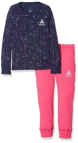 Odlo Camiseta Warm Kids infantil L/S Pants Long Interior de esquí Sets, Otoño