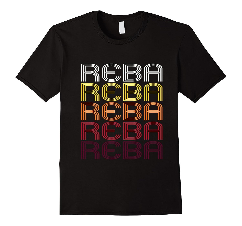 Reba Retro Wordmark Pattern - Vintage Style T-shirt-RT