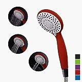 Handheld Shower Head,Matte Red bath SPA Massage