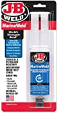 J-B Weld 50172 MarineWeld Marine Adhesive Epoxy Syringe - Dries White - 25ml
