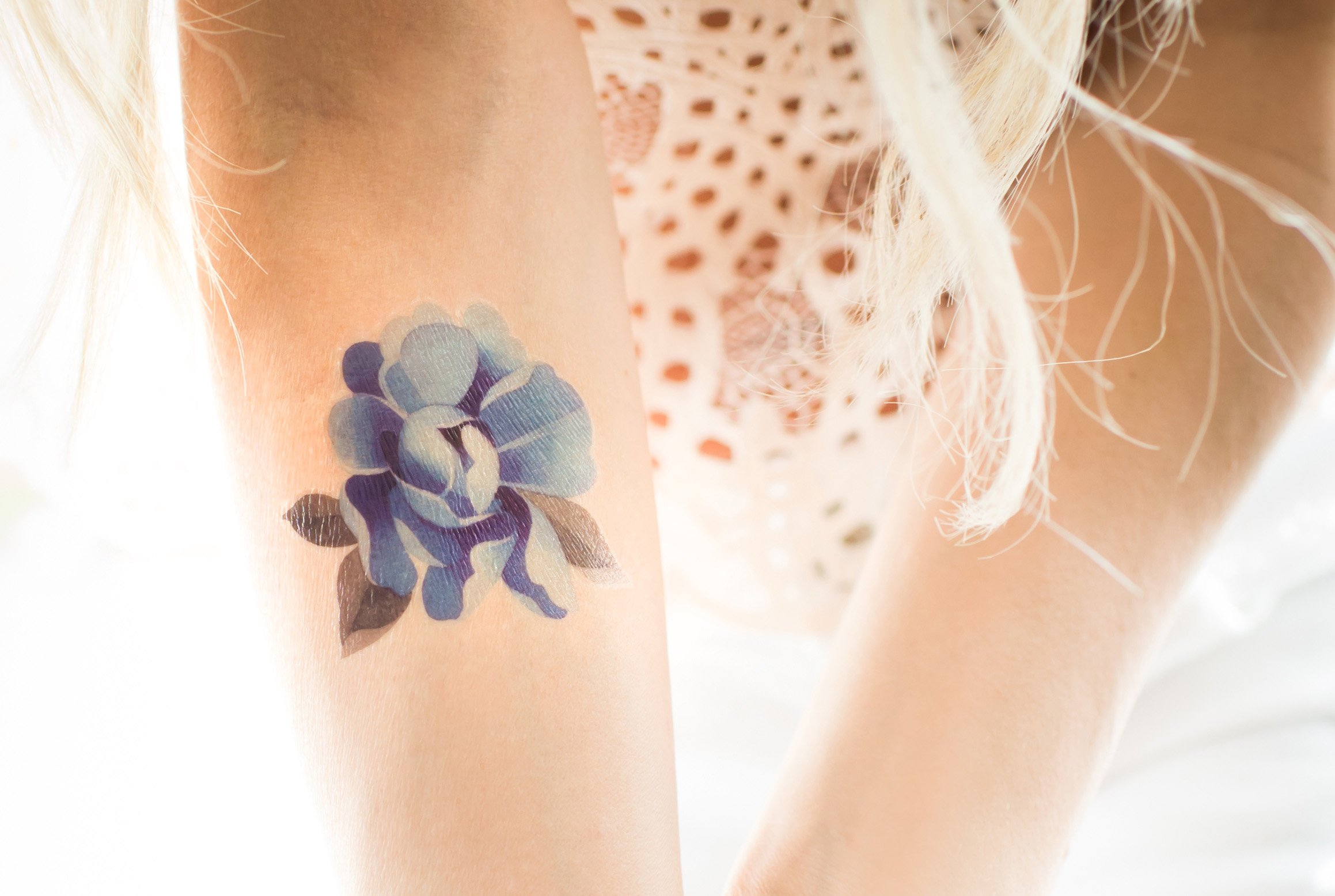 Flower Collection - Sasha Unisex - Quality Temporary Tattoos by TattooYou (Image #2)