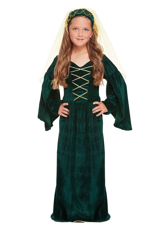 Henbrandt Disfraz de Princesa Medieval Infantil Talla pequeña Edad ...