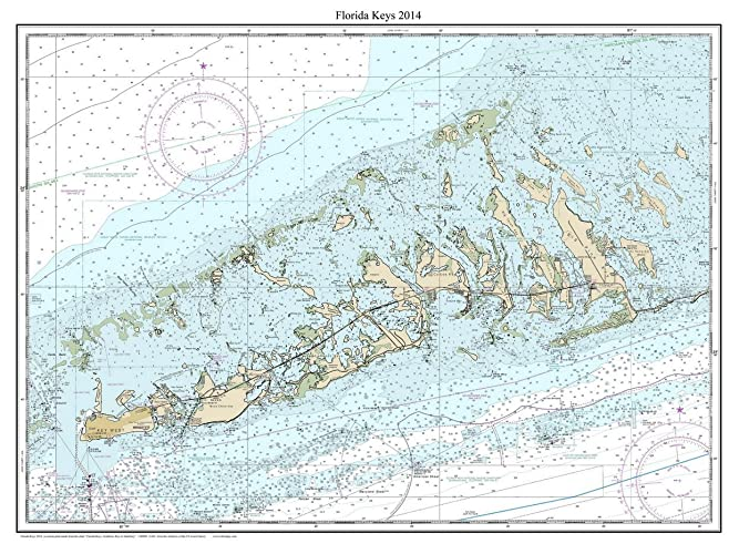 Amazon Com Florida Keys 2014 Nautical Map Florida Custom Print
