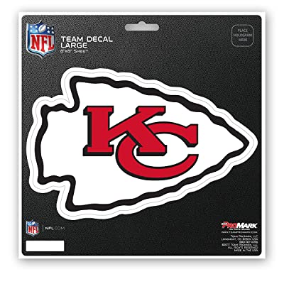 FANMATS NFL Kansas City Chiefs Unisex Kansas City Chiefs Decal Die Cutkansas City Chiefs Decal Die Cut, Team Color, 8x8 : Sports & Outdoors