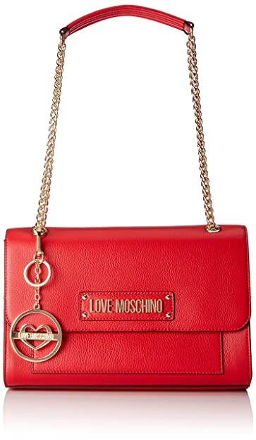 a7ccae0d28 Amazon.com  Love Moschino Borsa Vitello Pebble Grain