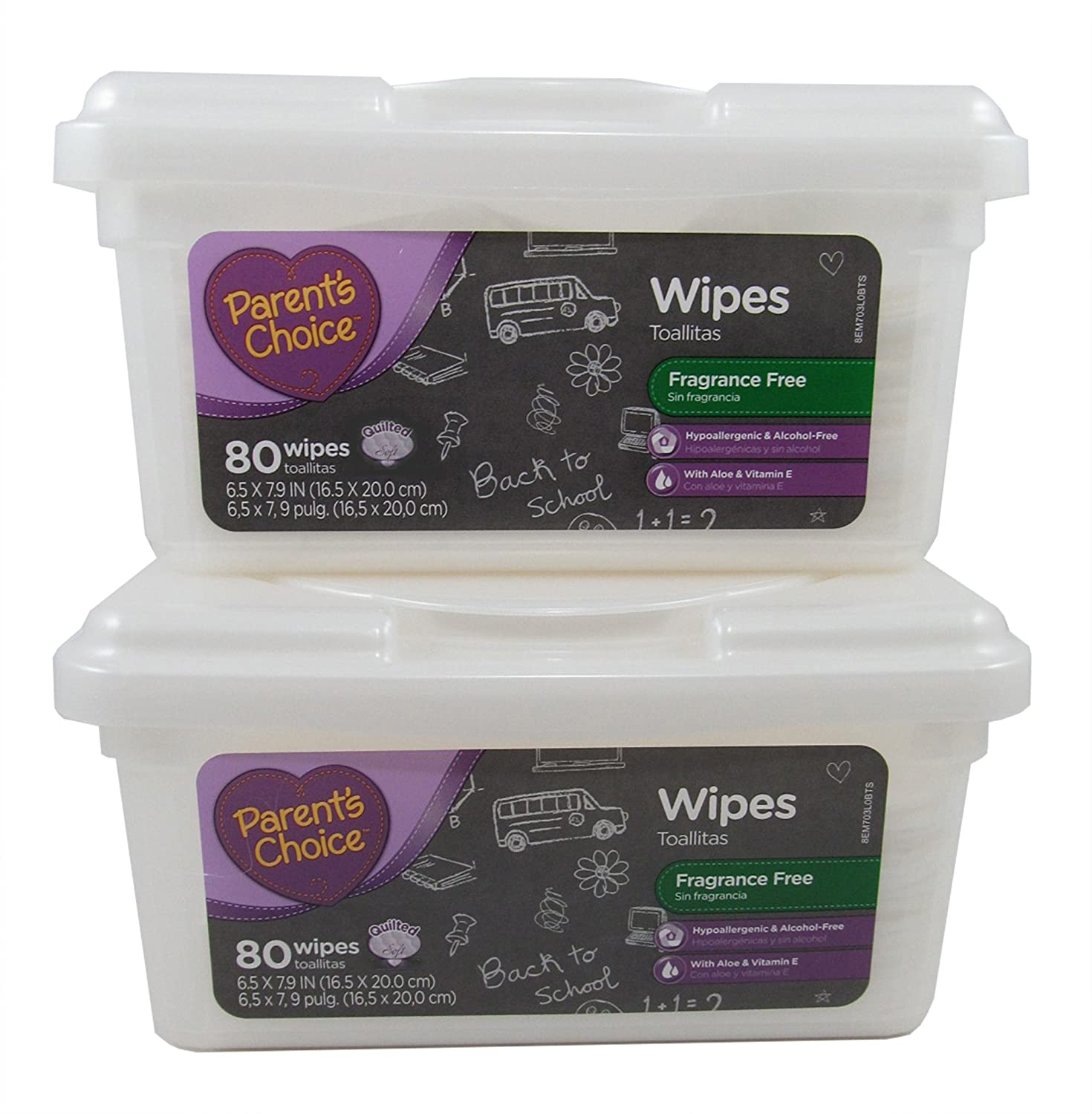 Amazon.com : Parents Choice ~ Baby and Toddler Wipes ~ Fragrance Free & Hypoalergenic ~ 2 Boxes of 80 Wipes ~ 160 Wipes Total : Baby