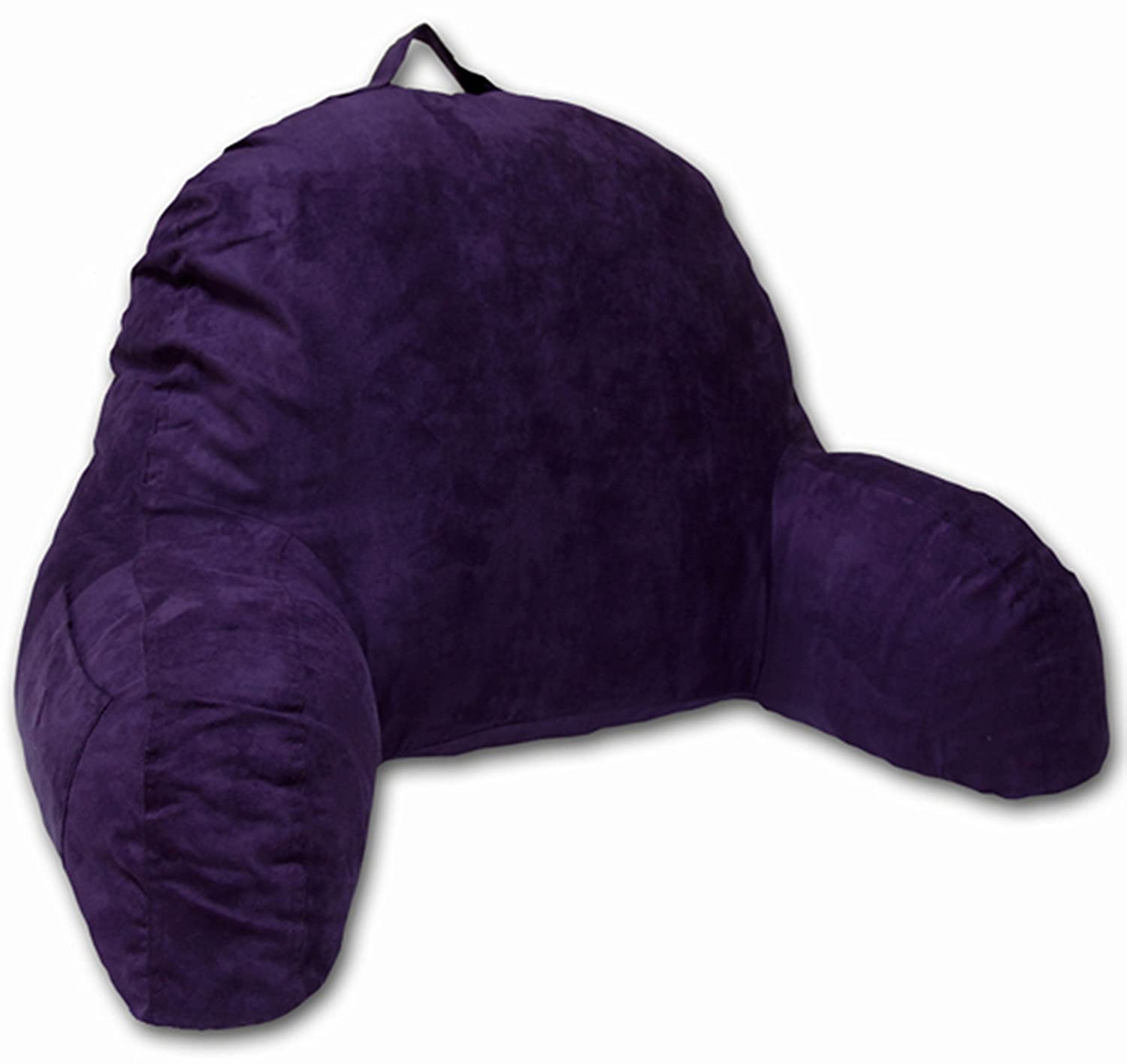 Bed pillow chair - Microsuede Bedrest Pillow Purple Best Bed Rest Pillows With Arms For Reading In Bed