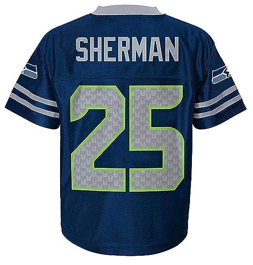 769f95a0bee Outerstuff Richard Sherman Seattle Seahawks Navy Blue Home Player Jersey  Kids (Kids 4)