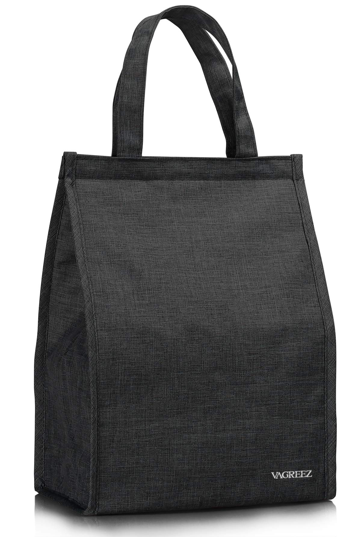 Lunch Bag, VAGREEZ Insulated Lunch Bag Large Waterproof Adult Lunch Tote Bag For Men or Women (Black) by VAGREEZ