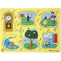 Melissa & Doug 735 Ahşap Sesli Yapboz, İngilizce Çocuk Şarkıları 1