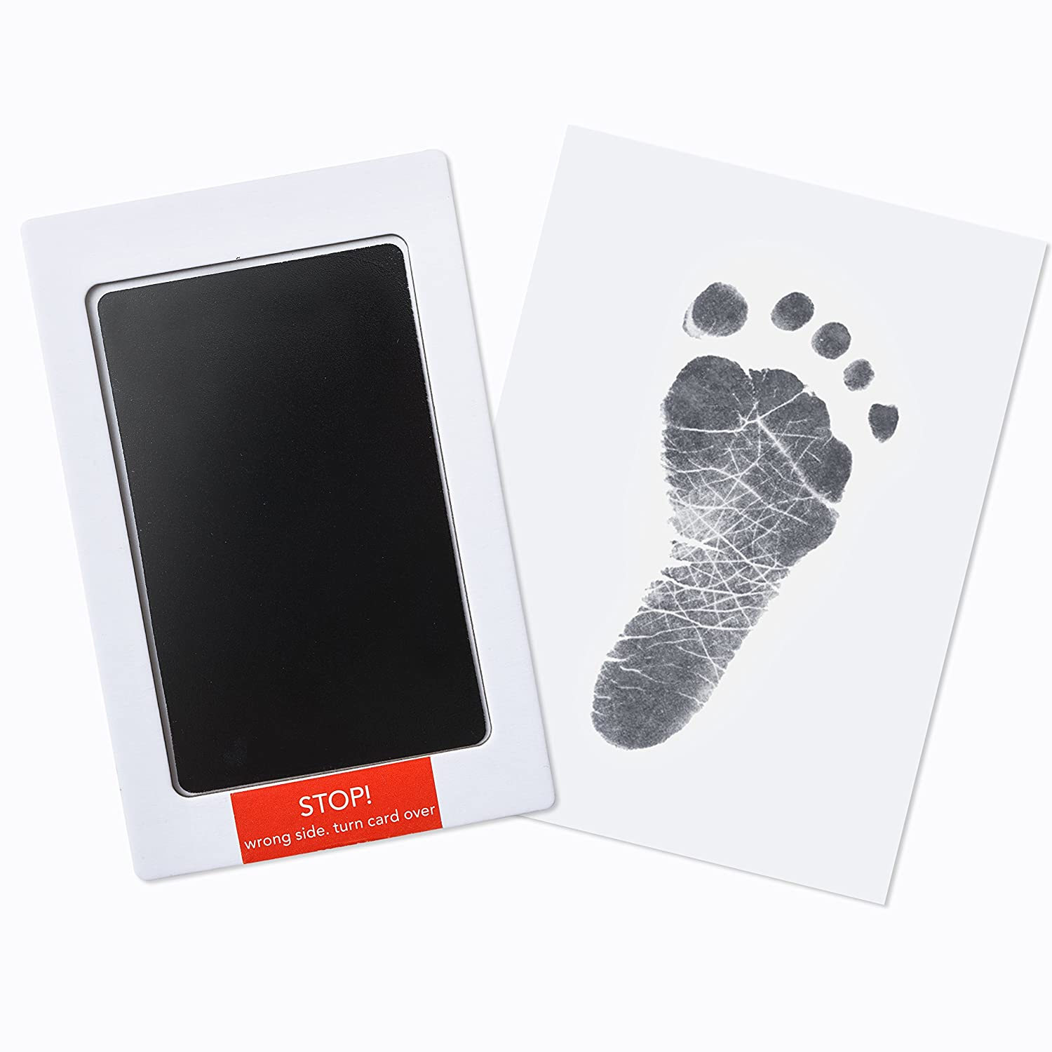 Premium No-Mess Ink Baby Footprint & Handprint Ink Pad | Safe and Non-Toxic Ink | Perfect New Baby Girl/Boy Shower Gift Up & Raise