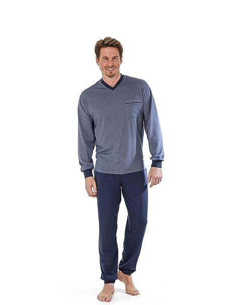Betz Pijama para hombres de manga larga con puños elásticos talla 48-56 de color
