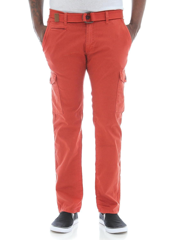 c0acb20e Jordan Craig Men's Slim Fit Stretch Twill Belted Cargo Pants at Amazon  Men's Clothing store: