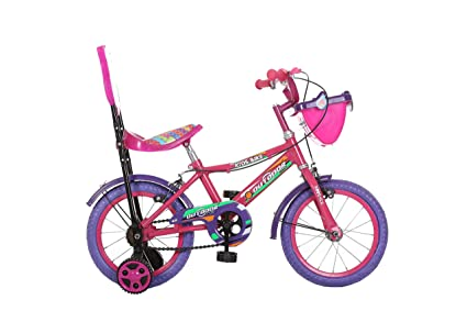 Outdoor Bikes 14 Inches Bicycle For Kids 3 To 5 Years, Pink (Assembly Required By Customer)