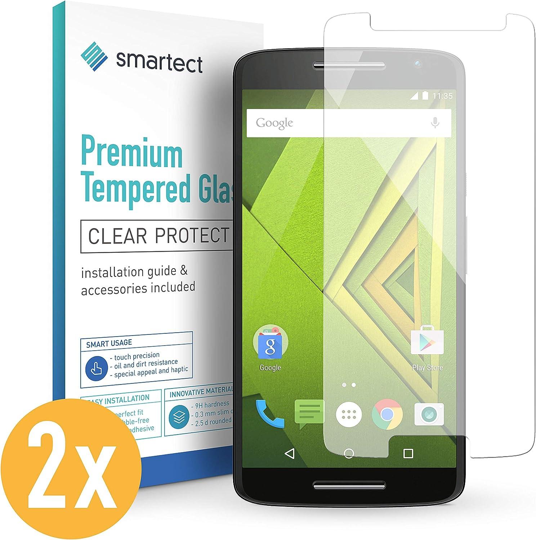 smartect Cristal Templado para Móvil Motorola X Play [2 Unidades ...